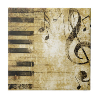 Piano Music Notes Tile