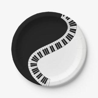 Piano Music Paper Plate