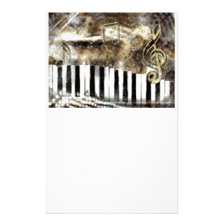 Piano Music Stationery