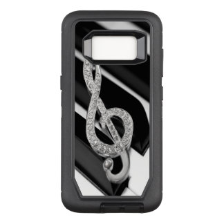 piano Music symbol OtterBox Defender Samsung Galaxy S8 Case