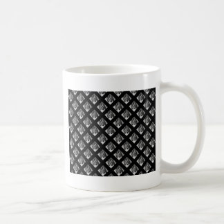 Piano Music symbols black background Basic White Mug
