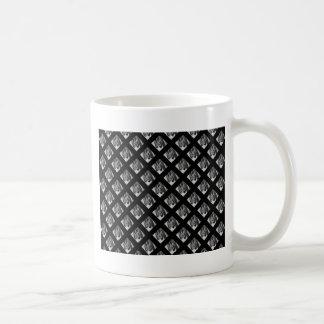 Piano Music symbols black background Coffee Mug