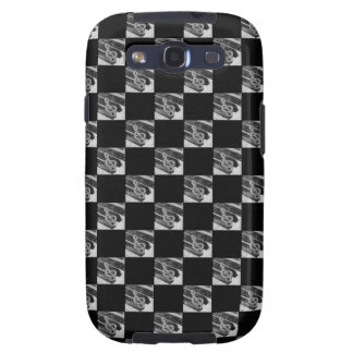 Piano music symbols with black background samsung galaxy s3 case