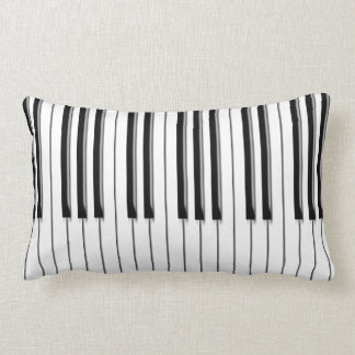 Piano musical lumbar cushion