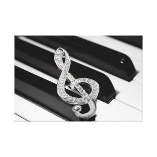 Piano musical symbol canvas prints