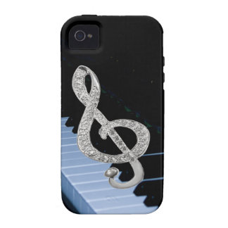 Piano musical symbol iPhone 4 cover