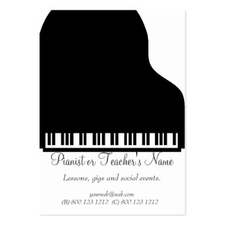 Piano Musicians Business Card