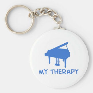 Piano my therapy basic round button key ring