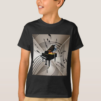 Piano Notes and Staff T-Shirt
