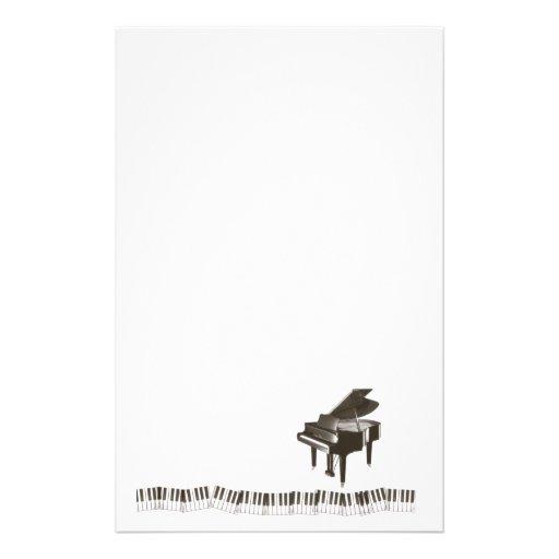 Piano Notes Stationery