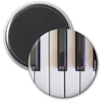 piano notes v1 6 cm round magnet
