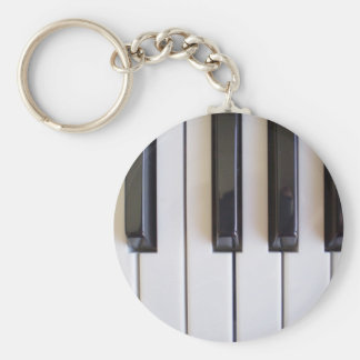 piano notes v1 basic round button key ring