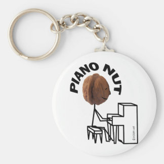 Piano Nut Basic Round Button Key Ring