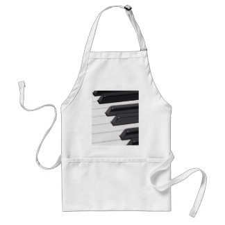 Piano or Organ Keyboard Keys Adult Apron