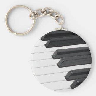 Piano or Organ Keyboard Keys Key Ring