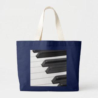 Piano or Organ Keyboard Keys Large Tote Bag