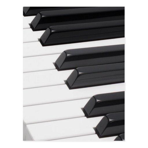 Piano or Organ Keyboard Keys Post Cards