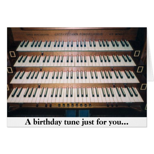 Piano Organ Keyboard Birthday Greeting Card
