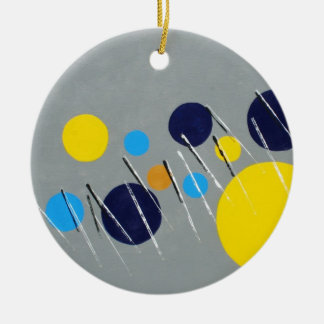 Piano Over Circles Round Christmas Ornament 2012