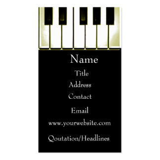 Piano Pack Of Standard Business Cards