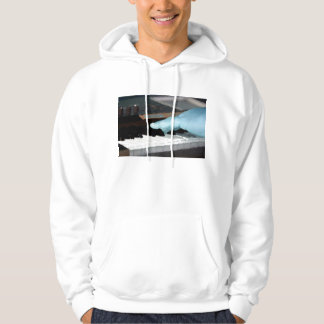 piano painterly blue electric left hand playing ke hoodie