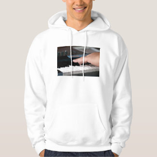 piano painterly electric left hand playing keys hoodie