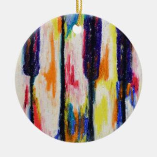 Piano Pastels Round Ceramic Decoration