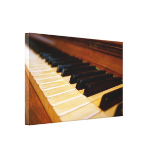 Piano Photo Stretched Canvas Prints