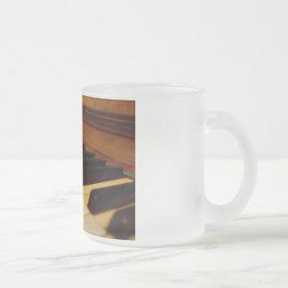 Piano Photo Frosted Glass Mug