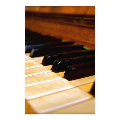 Piano Photo Stationery Design