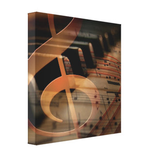 Piano pianist keyboard stretched canvas prints
