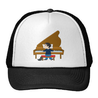 Piano Player and Dog Cap