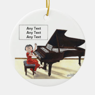 Piano Player - Female Christmas Ornament