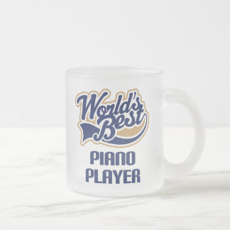 Piano Player Gift (Worlds Best) Frosted Glass Mug