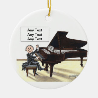 Piano Player - Male Christmas Ornament