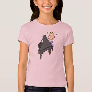 Piano Player Stick Figure Shirt