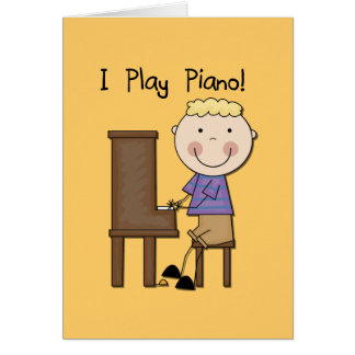 Piano Player Tshirts and Gifts Greeting Cards