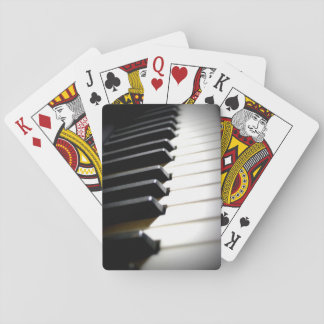 piano playing cards