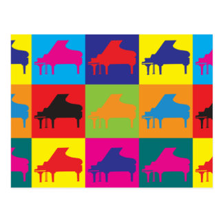 Piano Pop Art Post Cards