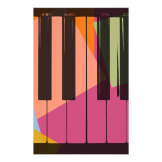 Piano Pop Art Stationery