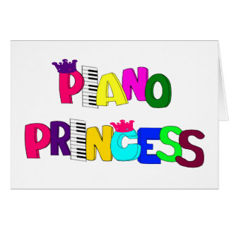 Piano Princess Card