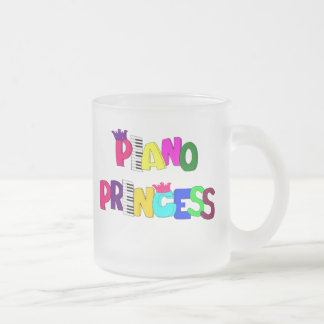 Piano Princess Frosted Glass Coffee Mug