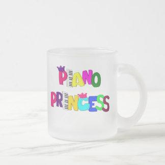 Piano Princess Frosted Glass Mug
