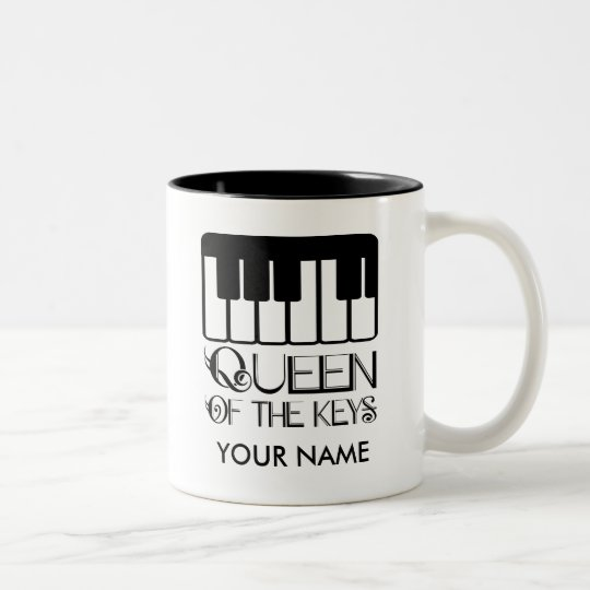 Piano Queen of the Keys Personalised Gift Mug