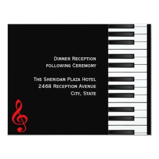 Piano Reception Card 11 Cm X 14 Cm Invitation Card