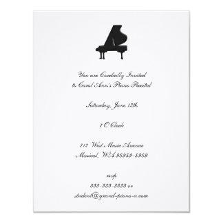 Piano Recital 11 Cm X 14 Cm Invitation Card
