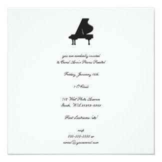 Piano Recital 13 Cm X 13 Cm Square Invitation Card