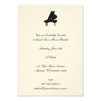 Piano Recital 13 Cm X 18 Cm Invitation Card