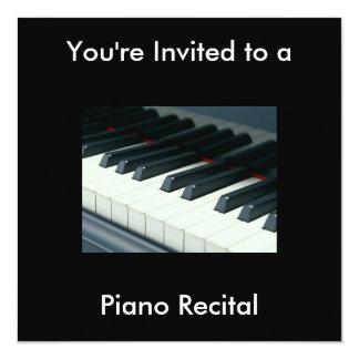 """Piano Recital Invitation 5.25"""" Square Invitation Card"""