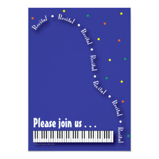 Piano Recital Invitation
